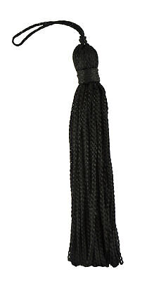 "Black 3"" Chainette Tassels Midnight's Embrace [Set of 10]"