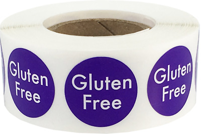 Gluten Free Food Rotation Labels .75 Inch Circle Dots 500 Adhesive Stickers