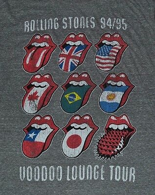 Rolling Stones VOODOO Lounge Tour Logo Style T-Shirt Tee Tongue