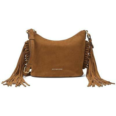 c22b50dd59eb Michael Kors Billy Medium Suede Messenger - Dark Caramel - 30F6ABIM2S-248