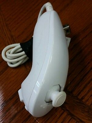 *AUTHENTIC* Original Nintendo Wii White Nunchuck Controller Official OEM TESTED