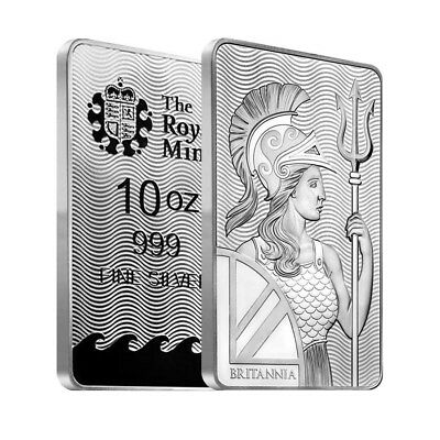 10 oz Britannia Silver Bar .999 Fine (Sealed)