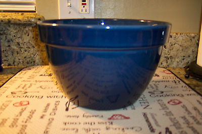 Vintage Mixing Bowl Lg Blue Marked Made In Portugal For Over And Back