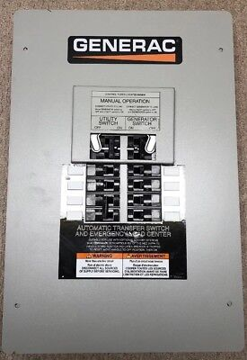 Generac EZ Automatic Transfer Switch And Emergency Load Center 8 Circuits 50A