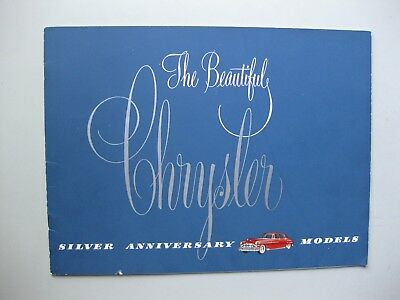 Chrysler incl. Town and Country prestige brochure Prospekt txt English 24pg 1949