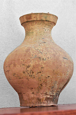 Chinese Han Dynasty Green Glazed Terracotta Vase,  206BC-220 AD