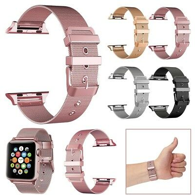 For Apple Watch Series 3/2/1 38/42mm Stainless Steel iWatch Wrist Band Strap