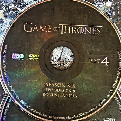 Game Of Thrones Saison 6 Six Disque 4 Remplacement Disque DVD