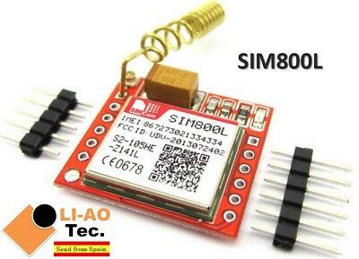 SIM800L GPRS GSM Module PCB Antenna SIM Board Quad band for MCU Arduino