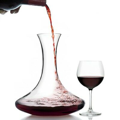 Crystal Red Wine Decanter 1.75L - 100% Lead-Free Crystal Glass Carafe, Perfect