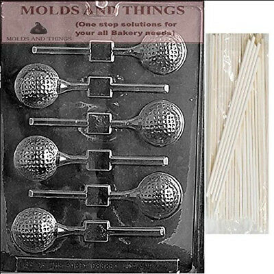 GOLF BALL LOLLY Chocolate Candy Mould With © Moulding Instruction + 25