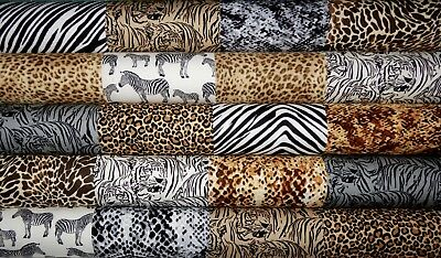 20 Animal African Cotton Fabric Quilting Patchwork 5 inch Charm squares #27b
