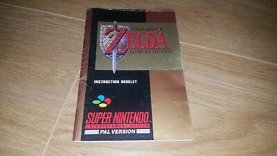The Legend of Zelda: A Link to the Past SNES Manual PAL