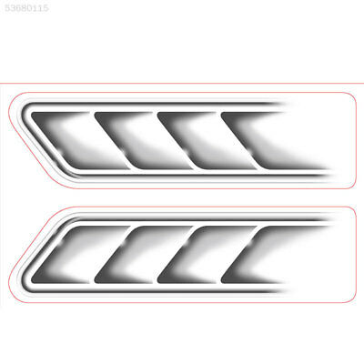 D6A5 Auto Car Vehicle 3D Fake Side Air Vents Outlet Decorative Stickers Decals S