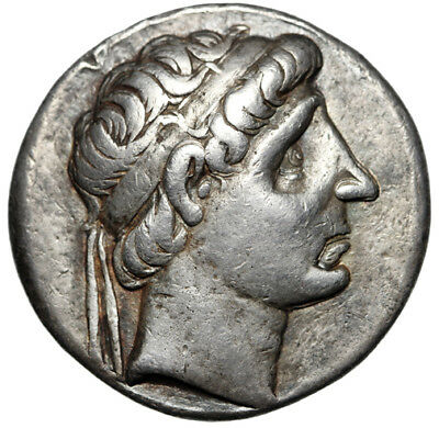 "Seleukid Kingdom: Antiochos I Soter AR Tetradrachm ""Apollo Testing Arrow"" nVF"