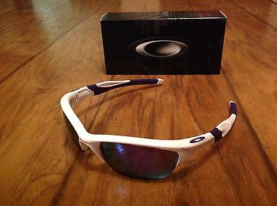 00866e273e5e4 ... shop oakley mens mirrored half jacket 2.0 white wrap sunglasses new  294f7 fc218