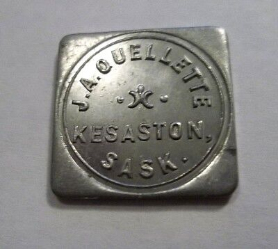 ✔ Good For Milk Dairy Token J A Quellette Kesaston Kenaston Saskatchewan Canada