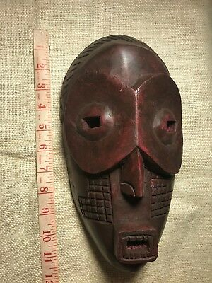 Handcrafted Wood African Wall Mask Made In Ghana #19