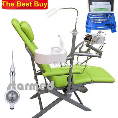 Portable Folding Chair + NSK Style High&Low Speed Handpiece Kits + Air Polisher