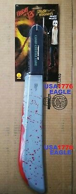 JASON VOORHEES MACHETE KNIFE FRIDAY THE 13TH WEAPON PROP RUBIES For MASK