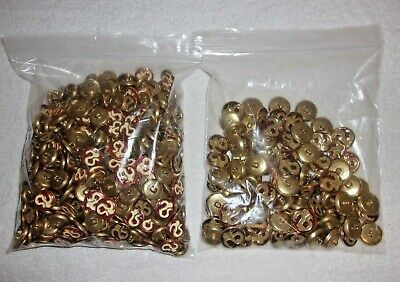 Vintage Tiger Button Company Asian Themed Brass Metal Shank Buttons...500 PIECES