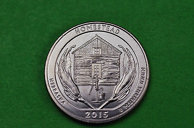 2015-P   BU Mint State ( Homestead National Monument) US  National Park Quarter