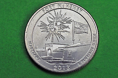 2013-D   BU Mint State ( Fort McHenry )  US National Park Quarter