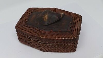 Indonesian / Balinese Handcrafted Wooden Carved Turtle Lombok Container Box
