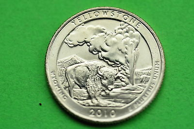 2010-P  BU  Mint State (YELLOWSTONE) US National Park Quarter Coin