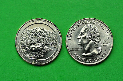 2011 P&D  BU Mint State (Olympic) US National Park Quarters (2 coins)