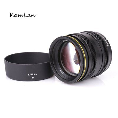 Kamlan 50mm F1.1 APS-C Manual Lens For Canon EOS-M Mount M3 M2 M5 M6 M10 Camera