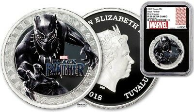2018 Silver Black Panther Ngc Pf70 Coin