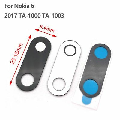 Rear Back Camera Glass Lens + Adhesive Replace For Nokia 6 2017 TA-1000 TA-1003