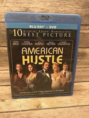 American Hustle BLURAY DVD Christian Bale Jennifer Lawerence *No Digital Code