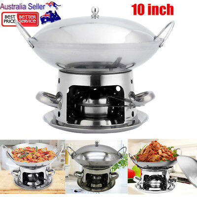 Stainless Steel Hotpot Chafing Dish Alcohol Stove Heater Buffet Food Warmer 25CM