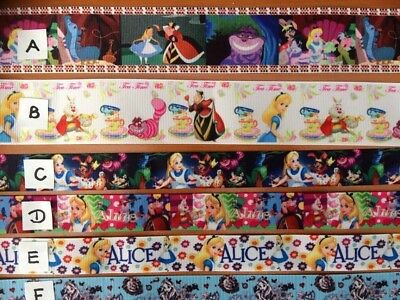 Alice in Wonderland Ribbons sold by 2M - 9 different designs see listing