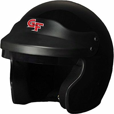 G-Force 3121XLGBK GF1 Open Face Helmet| X-Large| Black