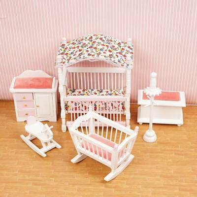 1/12 Dollhouse Miniature Wooden Kitchen Furniture Sofa Chair Bedroom DIY Decor