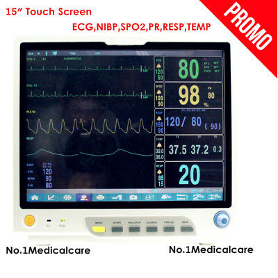 "CMS9200Plus ICU Vital Signs Patient Monitor 15"" touch ECG,NIBP,SPO2,PR,RESP,TEMP"