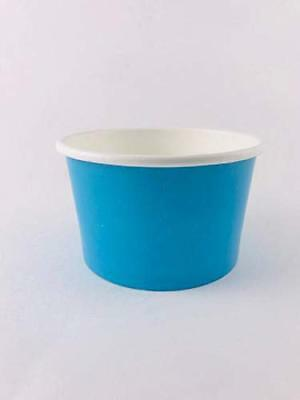 Ice cream paper cups 4 oz. (Case Of 1000 pcs BLU ) Perfect For Eating Frozen