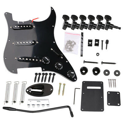 6 String Electric Guitar Instrument DIY Complete Kits Headless Parts Accessories