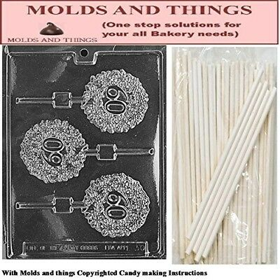 60 Lolly numbers and letters Chocolate candy mould © Moulding Instruction+ 25