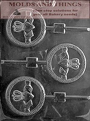 CLADDAGH LOLLY Chocolate candy mould with © moulding Instructions - Set of 2