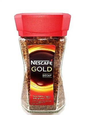 Nescafé NESCAFE Gold Decaf Instant Roasted Ground Coffee Beans Without