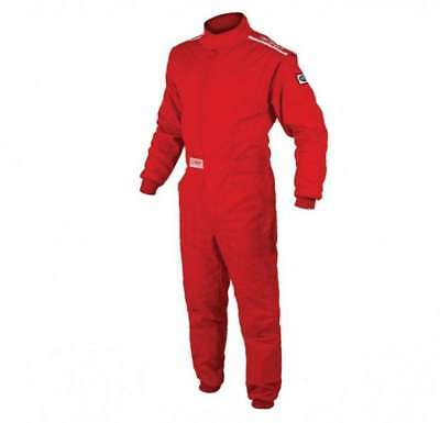 OMP Racing Red LG Single Layer OS 10 Cuff Driving Suit IA01904061L