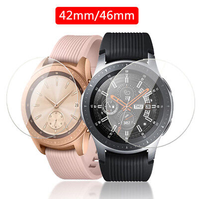 2 Pack Tempered Glass Screen Protector Film For Samsung Galaxy Watch 42mm/46mm