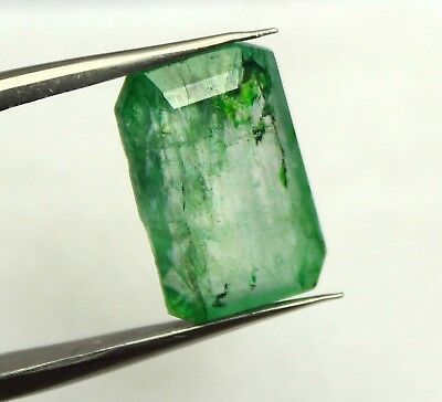 9.30Ct EGL Certified Natural Awesome Superb Green Emerald Loose Gemstone AX4409