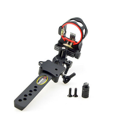 """Camouflage Micro Adjustable RH Bow Sight 5 Pin.019/"""" Long Pole f// Compound Bow"""