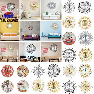 9 Styles Modern Wall Clock Art Large Watch Movement Home Office Cafe Decor AU