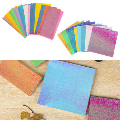 50pcs Origami Pearlescent Paper Folding Solid Color Papers Kids Handmade DIY